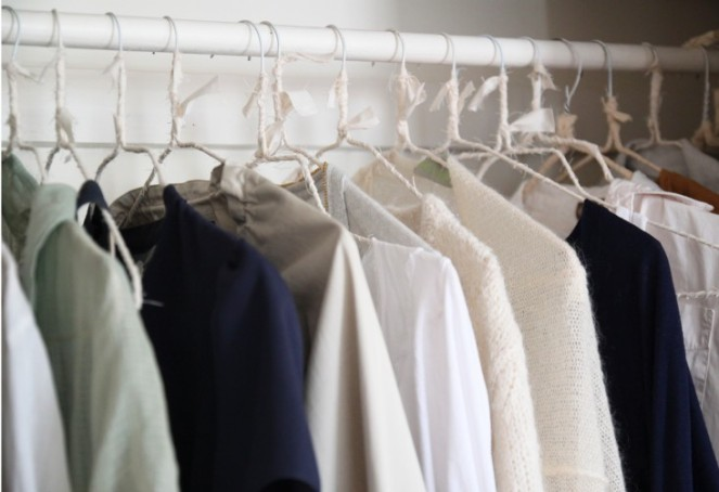 Justines closet Makesover with Wrapped Hangers, Remodelista