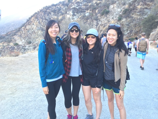 {before we started the hike}