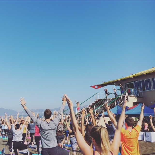 {yoga @ the Santa Monica Pier}